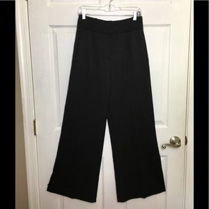 KENZO Black Wool Wide Leg Pants Trousers Paris